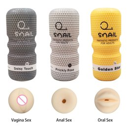 Chinese  Realistic Vagina Anal Male Masturbator Silicone Soft Tight Pussy Erotic Adult Toys Sex Toys For Men Masturbatings machine DHL manufacturers