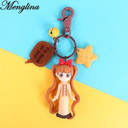 $enCountryForm.capitalKeyWord Australia - Menglina Lovely Cartoon Character Girls Keychain Anime llaveros Mujer Resin Plastic Charm Key Rings Women Bag Accessories Gifts