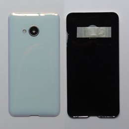 Glasses Case Material Australia - New Original Material Glass Rear Housing Door For HTC U Play Back Battery Cover Case with Camera