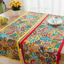 Table Cloth Chinese Australia - Chinese Classical style Cloth Art Cotton and Hemp Table runner Ethnic style Inn Bed Towel printing table Tea Towel