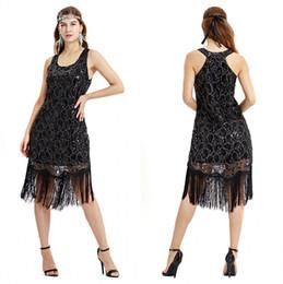 cheap black costume dresses 2019 - Little Black Latin Sequin Dance Dress Special Offer Club Wear Dance Dress Women Costume Salsa Dresses Cheap cps1286 chea