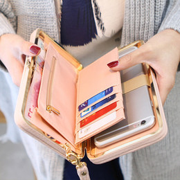 $enCountryForm.capitalKeyWord NZ - Women Wallet Phone Bag Case Purse Wallet Female Famous Brand Card Holders Cellphone Pocket Gifts For Women Money Bag Clutch D505