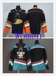 $enCountryForm.capitalKeyWord Australia - Hot Sale Women Anaheim Ducks Black Teal Alternate Stitched Ice Hockey Jersey Blank Woman NHL Jerseys Black Home