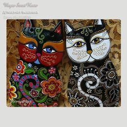 $enCountryForm.capitalKeyWord NZ - 5D Diamond Embroidery Diy Diamond Painting Cat Pictures Diamond Mosaic Needlework Crafts Picture Home Decor Canvas Painting