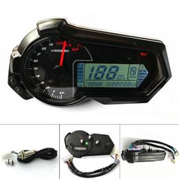 Tachymètre pour moto odomètre 2,4 Cylindres VTT LCD compteur de vitesse numérique 12000rpm Pour BMW KAWASAKI KTM HONDA en Solde