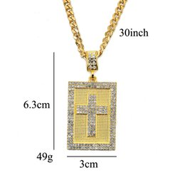 exquisite accessories NZ - 2019 Men's Fashion New Trends High Quality Hot Hot Hip Hop Cross Square Pendant Necklace Exquisite Accessories