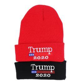 $enCountryForm.capitalKeyWord Australia - Trump 2020 Beanies Cap Outdoor Presidential Election Hat Letter Warm Headwear Knitting Hats Embroidery winter hat Sports Cap d94