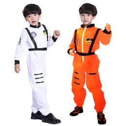 baby boy play clothes UK - Spring Kids Boy Jumpsuit Role Play Astronaut Spaceman Cosplay Flight Space Suit Costume Baby Children Clothing Sets