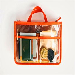 Bag inserts large online shopping - 2019 Multifunction Women Makeup Organizer Bag Handbag Purse Large liner Travel Insert Lady Casual Cosmetic Bag Travelling