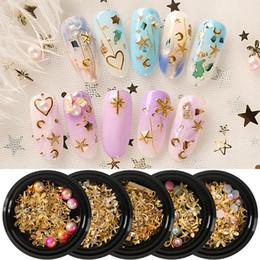 Tamax stile misto metallo decorazione unghie arte perla strass unghie pietre di cristallo adesivo manicure accessori suggerimenti strumenti chiodo