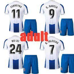 Soccer Jerseys Thailand Xxl Australia - Size S- XXL 19 20 adult kit La Liga RCD Espanyol jersey home football jersey Top Thailand Quality P.PIATTI BAPTISTAO Spanish soccer jersey