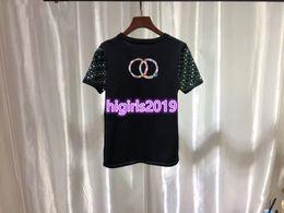 $enCountryForm.capitalKeyWord Australia - High end women girls sequins with embroidery Crew Neck t-shirt short sleeve tee Casual knit top summer knitwear 19ss milan runway dress