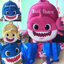 Cartoon Blue Color Australia - 2019 New Cartoon Baby Shark School Bag for Children Kids Cute Plush School Backpack Shark Baby Blue Rose Yellow Color Boys Schoolbag C13