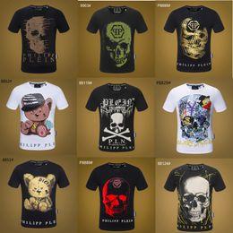 Wholesale t shirt designing for sale – custom 19ss desginer sport Hip Hop Designs winter men s t shirt Short Sleeve Cotton Skull hip hop Designers mens women t shirts tops p9908
