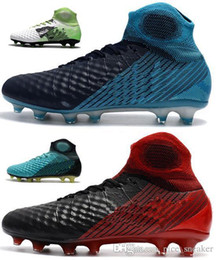 Ice cream boots online shopping - 2018 Magista obra II FG Men Soccer Cleats High Ankle D ACC Waterpoof Mens Soccer Shoes Outdoor ICE Suprefly Football Shoes Top Soccer Boots
