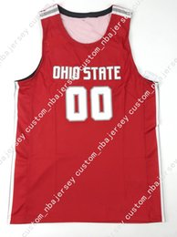 a488a307c983 Cheap custom New Ohio State Basketball Jersey  00 Red Stitched Customize  any number name MEN WOMEN YOUTH XS-5XL