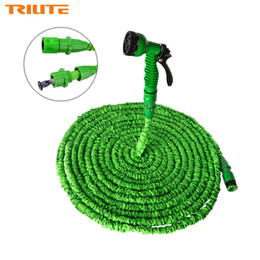 hose sets NZ - New Patent Expandable Garden Water Hose 25FT to 100FT For Car Magic Flexible Garden Hose Pipe Set To Watering With Spray Gun
