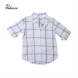 $enCountryForm.capitalKeyWord Australia - Pudcoco Baby Girls Shirts 2017 Kids Fashion Baby Boy Clothes Spring Autumn Plaid Blouse Shirt For Girls Kids Cotton Shirt