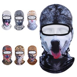 animal face masks Australia - Motorcycle Full Face Mask 3D Animal Cat Dog Hat Windshield mask Breathable Airsoft Snowboard Cycling mask Ski Cap BandanasT2I5499