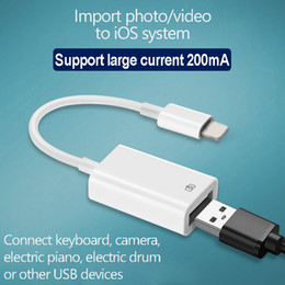 flash drive for iphone NZ - OTG adapter for Iphone IPAD IOS to USB Cable Adapter for Camera SD card reader Keyboard Headset Microphone Flash Drive Ypf46-1