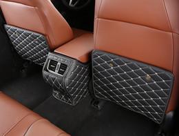 Kick Mats Australia - 3pcs set Microfiber leather Car seat anti - kick Prevent dirty protection mat for Honda accord 2018 interior decoration