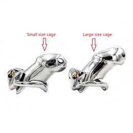 $enCountryForm.capitalKeyWord Australia - Real Stainless Steel cock ring chastity device cockcage penis cock cage prison with ball Snap Ring clamp and lock