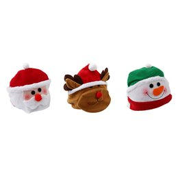 funny gifts christmas Canada - Funny Cute Santa Claus Hat Christmas Oldman Snowman Deer Hats Sets Christmas Party New Year Decoration Party Cospaly Xmas Gifts