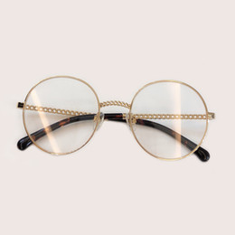 9fc7633e63 2019 New man Woman Retro Large Round Glasses Transparent Metal eyeglass  frame Black Silver Gold spectacles Eyeglasses 3 Colors