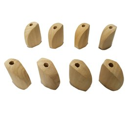 unfinished wood craft wholesalers Australia - Wood stereoscopic Trapezoid Beads with Holes Unfinished Solid Wood Beads Making Wind Chimes Hanging Decorations Crafts Accessories