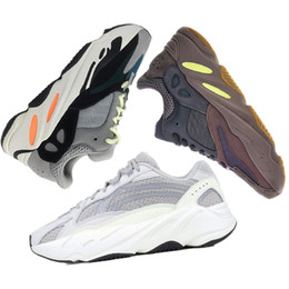 4b10b1c8cda Adidas yeezy 700 boost Migliore Qualità Kanye West Wave Runner 700 V2  Statico Mauve Solido Grigio Sport Scarpe Da Corsa Uomo Donna Sport Sneakers  Scarpe ...