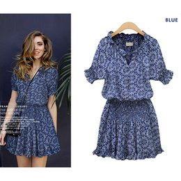 $enCountryForm.capitalKeyWord Australia - Brand Name Fashion New Hot Sale Women dress BlueTrendy Round Neck Sexy Office Casual Womens Drees S-2XL