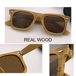 Sun Design Shade Glasses Australia - newest Retro real Wood Sunglasses Men Bamboo Sunglass Women Brand Design 2140 style black lens Sun Glasses square Shades lunette oculo gafas