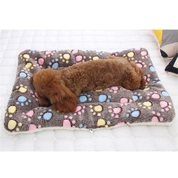 cat beds medium NZ - Soft Flannel Pet Mat Dog Bed Thicken Warm Cat Dog Blanket Puppy Sleeping Cover Towel Cushion For Small Medium Large Dogs