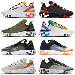 Chinese  React Element 87 55 EPIC Undercover x Nik Running Shoes For Men Women Bred Olive Camo Tour Yellow Black White Trainers Brand Sneakers manufacturers