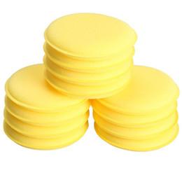 $enCountryForm.capitalKeyWord Australia - 12pcs Compressed Sponge Mini Yellow Car Auto Washing Cleaning Sponge Block Wax Foam Sponges High Quality Applicator Pads