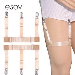 Men's Suspenders Apparel Accessories 1 Pc Mens Shirt Crease-resist Anti-skid Clip Gentleman Legs Thigh Elastic Adjustable Suspender Holder Stays Garters Wholesale Reliable Performance