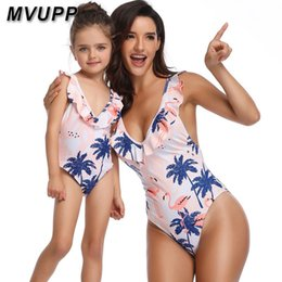 $enCountryForm.capitalKeyWord NZ - Mother Daughter Family Swimsuit Matching Outfits Flounce Mommy And Me Baby Girl Clothes Mom Mama Big Sister Little Sister Look Y19051103