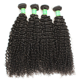$enCountryForm.capitalKeyWord Australia - Kinky Curly Wave Virgin Human Hair Wefts 3 Bundles Brazilian Malaysian Remy Human Hair Extension Tissage Cuticle Aligned 8-28 Inches Black