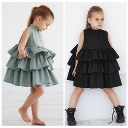 $enCountryForm.capitalKeyWord Australia - baby girl summer dresses 2019 sleeveless ruffle tutu dress fashion kids chiffon korean dresses little girls clothes childrens clothing INS