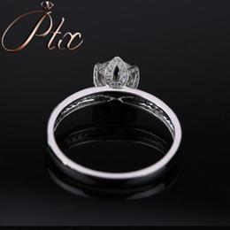 White Gold Moissanite Australia - popular 14k white gold DEF White Color Synthetic Moissanite Diamond Ring for women gift party luxury wearing