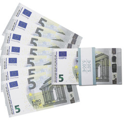 Prop 5 Euro-Banknoten Realistische Kinofilm Geld Full Print 2 Sided für Kinder, Studenten, Film on Sale