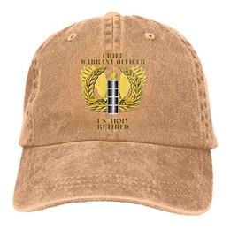 $enCountryForm.capitalKeyWord Australia - 2019 New Wholesale Baseball Caps US Army Retired Chief Warrant Officer Emblem CW4 Mens Cotton Adjustable Washed Twill Baseball Cap Hat