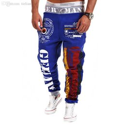 gold harem trousers Canada - Men Sport Pants 2015 New Fashion Printing Casual Trousers Hip Hop Sweatpants For Men Baggy Harem Pants Camouflage Men Joggers