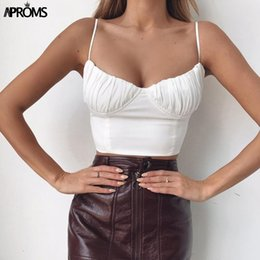 $enCountryForm.capitalKeyWord Australia - Aproms Elegant Lace Up Solid Color Camis Women Streetwear Fashion Party Club Basic Tank Top 90s Cool Girls Tees Camisole 2019 MX190724