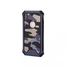 Camouflage Iphone Hard Case Australia - Camouflage Army Armor Hybrid Case For Iphone Xs Mas Xr Xs X 8 7 Plus 2 in 1 Military Hard Plastic+Soft TPU Silicone Luxury Cell Phone Cover