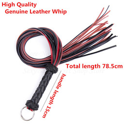 adult bdsm games spanking Australia - New Genuine Leather Whip Fetish Bondage Lash Tools Adult Game Spanking Paddle Whip Flogger Bdsm Erotic Sex Toys For Couples Y19060302