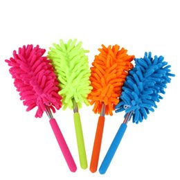 Fans book online shopping - High Quality Scalable Clean Duster Car Wash With Dust Brush Mini Stainless Steel Feather Dusters Brushes