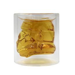 $enCountryForm.capitalKeyWord UK - Creative Double layer glass warrior Mugs,Heat-resistant glass cup helmet Wars mug Drinking Coffee Water Mug,robot Helmet cup