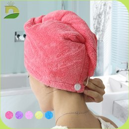 $enCountryForm.capitalKeyWord Australia - Microfiber Quick Dry Shower Hair Caps Magic Super Absorbent Dry Hair Towel Drying Turban Wrap Hat Spa Bathing Caps