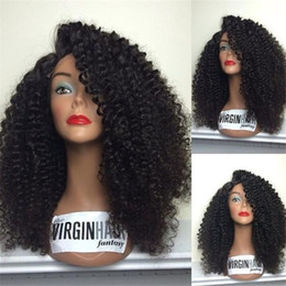 """Jerry Curly Lace Front Wigs Australia - Hot selling Lace Front Human Hair Wigs Remy Brazilian Jerry Curly Lace Wigs With Baby Hair Bleached Knots Pre Plucked 8""""-26"""""""
